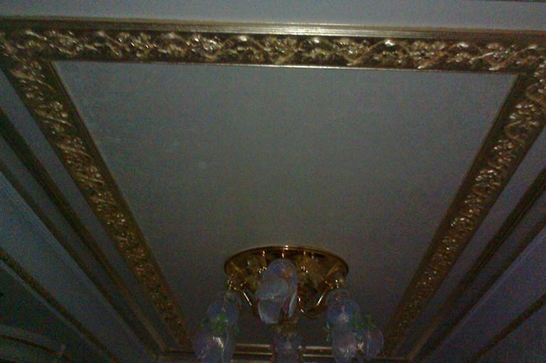 Lepení a zlacení stropní lišty ukázka 2